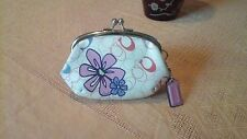 COACH SUPER CUTE FLOWER KISS-LOCK CHANGE PURSE, VERY NICE, C-PICTURE'S