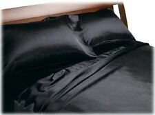 New Divatex Home Fashions Royal Opulence Fitted Satin Sheet Pillowcase Set