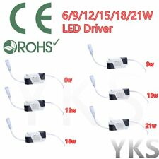 New Dimmable LED Light Lamp Driver Transformer Power Supply 6/9/12/15/18/21W BU