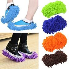 1 Pair Home Dust Floor Cleaning Soft Slippers Shoes Mop House Clean Shoe Cover E