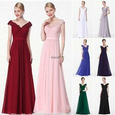 Cap Sleeve Maxi Evening Bridesmaid Formal Prom Dress Ever Pretty Ball Gown 08633