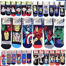 6 Pairs Mens Official Character Socks Novelty Cartoon Comic Tv Theme 6-11