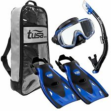 Tusa Sport Visio Mask Fins Snorkel & Deluxe Bag - RED OR BLUE - MEDIUM - NEW