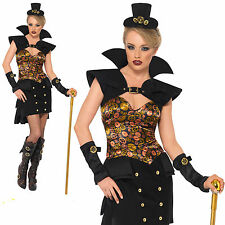 Ladies Steam Punk Victorian Sexy Vampiress Vampire dressing up costume outfit