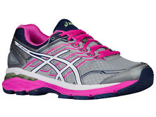 NEW WOMENS ASICS GT-2000 V5 GEL RUNNING SHOES TRAINERS MIDGREY / WHITE 2E-XWIDE