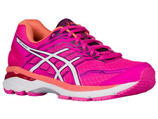 NEW WOMENS ASICS GT-2000 V5 GEL RUNNING SHOES TRAINERS PINK GLOW / WHITE / DARK