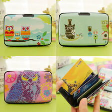 Girls Woman Portable Owls ID Cases Credit Card Holders Pack Bags Accessories