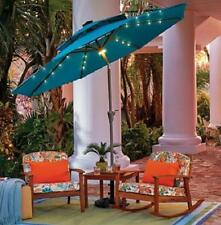 9 Foot Outdoor Deluxe Solar LED Lighted Market Patio Umbrella 3 Colors