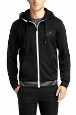 Hugo Boss Hoodie Hooded Sweatshirt Hoody Mens Grey Zip Men Black Top Size Blue