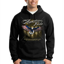 American Pride USA Flag Eagle Soaring Patriotic Hooded Sweatshirt Hoodie