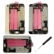 Complete Housing Back Door Cover + Mid Frame Assembly Repair parts For iPhone 5S