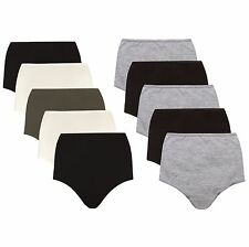 Cotton Rich High Rise Full Briefs Knickers ~5 PACK