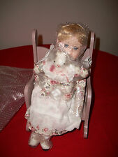 """15"""" Porcelain Doll With Musical Rocker Item No. 38485 ABC Distributing Inc"""