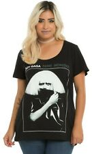 "Ladies Plus Size LADY GAGA ""FAME MONSTER"" Scoop Neck T-Shirt NEW 100% Authentic"