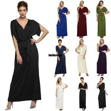 Sexy Women Lady Batwing Sleeve Deep V Neck Long Dress Party Evening casual IDL3