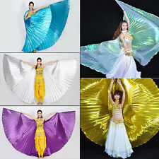 Egypt Egyptian Belly Dance Costume Shining ISIS WINGS Dance Wear Solid Colours