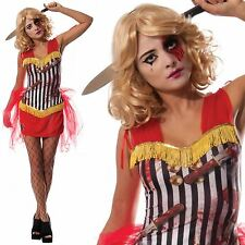 Knife Throwers Assistant Ladies Fancy Dress Halloween Circus Horror Costume New