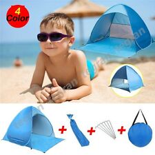 Instant Pop Up Dome Tent Camp Beach Sunshade Shelter Sand Summer Holiday SPF 50