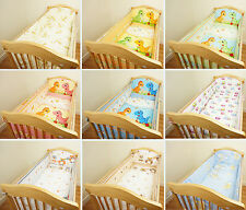 NURSERY BABY COT BUMPER LONG ALL ROUND BUMPER TO FIT COT / COT BED
