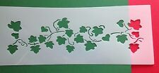 BORDER type painting stencil Evergreen climbing plant Ivy Green