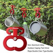 New Aluminum Alloy Outdoor Caping Tent Wind Rope Buckle Claw Type Buckle LOT EG
