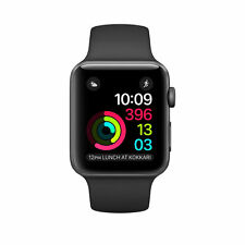 Apple Watch Series 2 38mm Space Gray Aluminum Black Sport Band-F/Seal+Ships Free