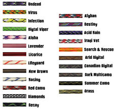 New Colors 550 Paracord 7 Strand Type III  Parachute Cord 50' & 100' Lengths