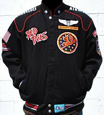 Tuskegee Airmen 99th Squadron Twill Jacket Black