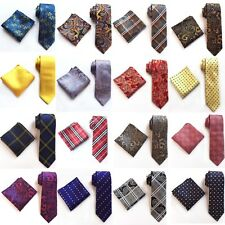 New Fashion Wedding Jacquard Woven Silk tie and Pocket Square Set 2017