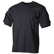 Tactical Military Army Special Ops Combat T-Shirt - Police Black - Short Sleeve