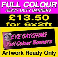 6ft x 2ft PERSONALISED  PVC Banner Outdoor Vinyl Banner Advertising Sign Display