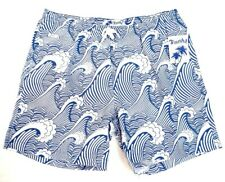 Trunks Surf & Swim Co. Blue & White San O Swim Trunks Water Shorts Mens NWT