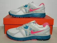 NIKE WOMEN'S LUNARGLIDE+ 3 WHITE/PINK/TURQU NEW/BOX MULTIPLE SIZES 454315 160