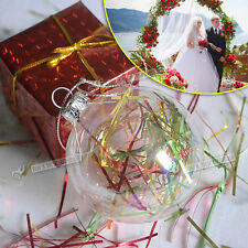 12-36X 60mm Clear Glass Ball Christmas Bauble Ornaments Home/Party Decorations