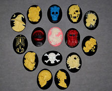 SKULL  VAMPIRE SILICONE MOULD SUGACRAFT CHOCOLATE FIMO POLYMER CLAY PLASTER MOLD