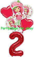 STRAWBERRY SHORTCAKE 2ND BIRTHDAY PARTY BALLOONS BOUQUET DECORATIONS SUPPLIES