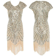 1920s Vintage Flapper Dress Charleston Gatsby Sequin Art Deco Party Pageant Gown