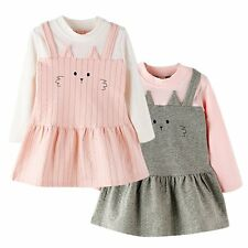 Fashion Baby Toddler Kids Girls Long Sleeve Cat Clothes Casual Party Dress