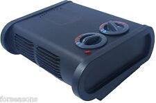 Office Space Heater For Home RV Trailer Sailboat Fan Heat Low Profile Thermostat