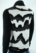 Armani Exchange A|X Mens Abstract Waffle Knit Cardigan Buttoned Sweater NWT