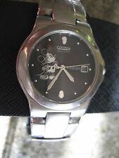 Disney Mickey Mouse Icon Eco-Drive Watch for Men by Citizen - Silver stainless