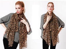 Hot Women's Warm Sexy Leopard Long Soft Wrap Fashion Shawl Chiffon Vogue Scarf