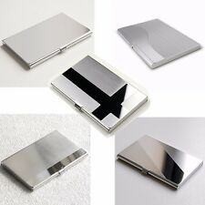 Stainless Steel Business ID Credit Card Holder Name Card Wallet Metal Pocket Box