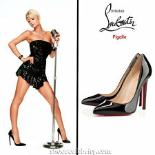 Christian Louboutin Pigalle 120mm High Heel Pumps - Black Patent - MSRP - $700