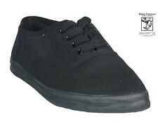 NEW  Canvas Sneaker Lace Up 628 All Black