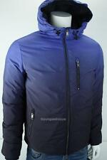 Armani Exchange A|X Mens Down Puffer Hooded Coat Ombre Navy Blue NWT $260