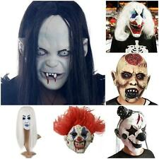 Latex Scary Devil Zombie Clown Mask Halloween Party Cosplay Costume Fancy Dress