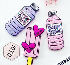 Sweet 3D Pink Love Bottle Ice Cream Phone Case Couples Soft Silicone Rubber Case