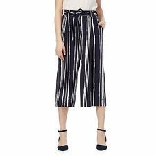 The Collection Womens Navy Striped Print Culottes From Debenhams