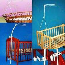 CANOPY HOLDER cot bed crib moses basket NETTING bed drape MOSQUITO NET bassinet